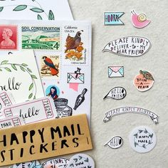 Aren't these just the cutest stickers ever? A close-up of the charming hand-drawn happy mail stickers I received from my very talented friend @craftmakesmile. I got one set to use for my next batch of letters and one set to hoard  Thank you Ann! ...
