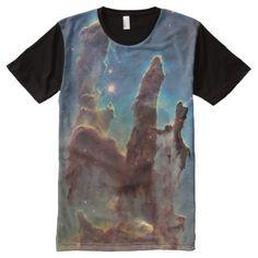 The Eagle Nebula aka The Pillars Of Creation All-Over-Print Shirt - click/tap to personalize and buy Eagle Nebula, Stylish Shirts, Space Theme, S Shirt, Eagles, Printed Shirts, Chiffon Tops, Custom Design, Print Design
