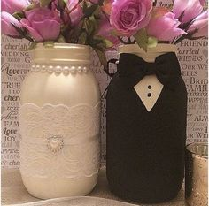 Bride and Groom Decor, His and Hers Decor, Custom Wedding Centerpieces, Wedding Gift, Bridal Shower Decor, Bridal Shower Decor by LeChicBoutiqueCo on Etsy https://www.etsy.com/listing/504655134/bride-and-groom-decor-his-and-hers-decor