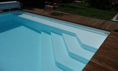 Réalisations - Page 2 sur 3 - Techneau Piscine Pool Steps Inground, Swimming Pool Landscaping, Pool Garden, Moderne Pools, Piscina Interior, Swimming Pool Construction, Small Pool Design, Swiming Pool, Mini Pool