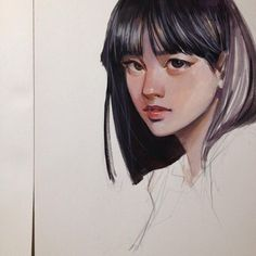 Traditional Paintings, Traditional Art, Cool Art Drawings, Art Sketches, Watercolor Illustration, Watercolor Art, Drawn Art, Art Folder, Aesthetic Drawing