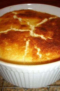 I freaked out when I couldn't find this recipe because it is THAT good...finally found it and now I have it forever!! -- Lemon-Buttermilk Pudding baked deliciousness