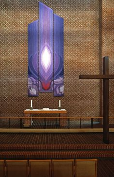 Sankt Andreas Kirke, Randers, Danmark. Alterpiece Tapestry by Inge-Lise and Flemming Bau.