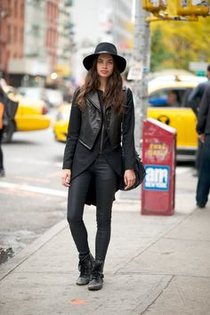 THIS. EVERY. DAY. #fashion #style #BlackonBlack #leather