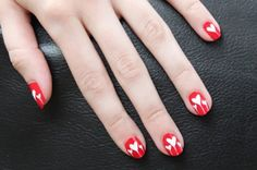 Awesome Dripping Hearts Nail Designs 2017