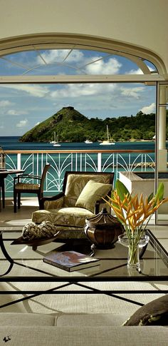 Beautiful coastal veranda, view