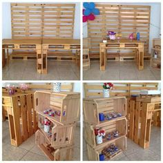 60th Birthday Theme, Birthday Parties, Room Design Bedroom, Cowboy Party, Farm Party, Wood Creations, Pallet Furniture, Event Decor, Wood Projects