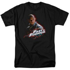 Fast And Furious Toretto Adult Short Sleeve S/S 18/1 T-Shirt - Black