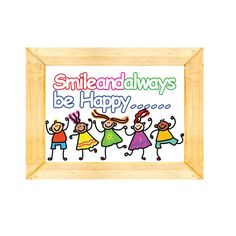 Words for life - Smile and always be Happy...Bible Verse/Quote Custom made picture frame started from $3.9  Langham Mall Unit 2333 & 2335 Level 2, 8339 Kennedy Road, Markham, Ontario, Canada  www.OneOfAKaIND.com