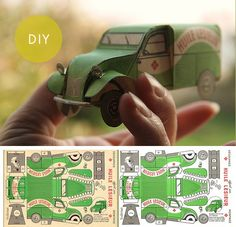 printable vintage Jeep (3 pages) Paper models, Paper