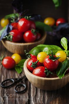 Pic: Concept of healthy eating with tomato and basil