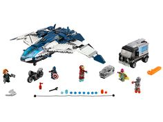 76032 - The Avengers Quinjet City Chase - Age Of Ultron - Marvel Super Heroes Lego - Avengers Toys - Marvel Action Figures - Shop by Brand Lego Dc, Lego Minecraft, Lego Batman, Spiderman, Superhero, Age Of Ultron, Ultron Marvel, The Avengers, Captain America Bike