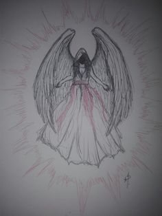 Angel, Dark, Drawings, Sketches, Drawing, Portrait, Draw, Grimm, Angels