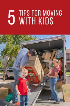 Moving with kids can be a challenge, especially when they are young. Click through to learn a few ways to help make moving with kids easier. Moving Truck Rental, Make It Simple, Stress, Challenges, Learning, Easy, Tips, How To Make, Anxiety