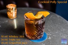You can mix it in a Polly Special Cocktail. If not, buy some. It worths: Triple Sec, Grapefruit Juice, Whisky, Coffee Shop, Bakery, Cocktails, Pudding, Canning, Tableware