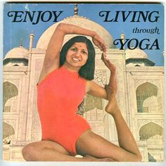 1975: Enjoy Living through Yoga by Swami Sarasvati (vintage yoga book) ...... #vintageyoga #yogahistory #1970s #yogabook #vintagebook #yoga