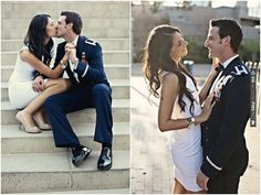 These two are so sweet! City chic engagement shoot (a model + a man in uniform) by Visionyard Photography | CHECK OUT MORE IDEAS AT WEDDINGPINS.NET | #weddings #engagement #engaged #thequestion #events #forweddings