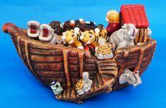 Esta hermosa #artesania del Arca de Noé, mantendrá tu casa viva y alegre todos los días.