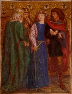 Dante Gabriel Rossetti - The First Madness of Ophelia