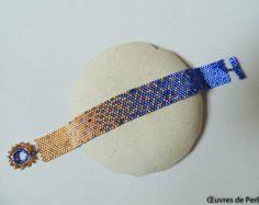 Grey seed beads bracelet in peyote stitch Beaded bracelet