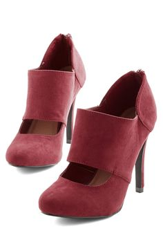 Props to Your Panache Heel in Cranberry | Mod Retro Vintage Heels | ModCloth.com