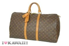 Authentic Louis Vuitton Monogram Keepall 50 Bag Boston Duffle Free Shipping!