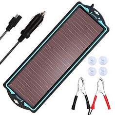 SUNAPEX 12V Solar trickle Charger,Battery Charger,Battery maintainer Portable Power Solar Panel Suitable for Car, Motorcycle, Boat, ATV,Marine, RV, Trailer, Snowmobile, etc. ✅【Charging in any weather】:Solar panel battery charger, it uses amorphous film technology and it can charge batteries under various weather conditions with a wide range of applications. ✅【Charging indication】:The product has built-in indicator lights, which will turn on when solar panels generate electricity. At the same tim Battery Shop, Boat Battery, Solar Battery Charger, Solar Panel Charger, Solar Panel Battery, Solar Panels, Car Hauler Trailer, Rv Trailer, Cool Car Accessories