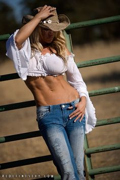 #Cowgirl with #Abs of Steel