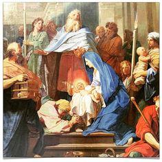 Jean Jouvenet (16441717) la Purification de la Sainte Vierge et la Présentation de Jésus au Temple - 1692 #Chandeleur #Candelora #Candlemas #Candelária # Purification #Rencontre du #Seigneur #Yπαπάντη #Сретение #Господне