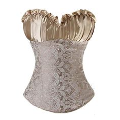 Women's Sexy Embroidery Slimming Corset  Lace Up Waist Trainer Corset And Bustier Top Side Zipper Overbust Corselet Outwear TYQ