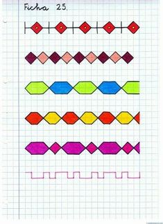 Symmetry Worksheets, Graph Paper Art, Math Projects, Toddler Learning Activities, Paper Drawing, Drawing For Kids, Geometric Art, Pixel Art, Cross Stitch Patterns