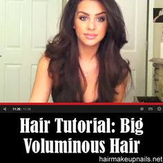 Big Voluminous Hair Tutorial by Carli Bybel