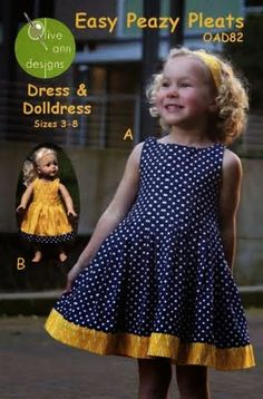Sewing for American Girl Dolls: If you like pleats then this Easy Peazy Pleats pattern is for you.