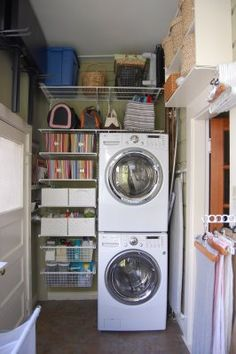 Stacking washer and drier