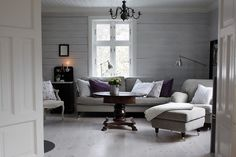 lovely:: love the color palette + light in this room. Grey Room Decor, Urban Rustic, Urban Chic, Interior Decorating, Interior Design, Decorating Ideas, Lounge Sofa, Beautiful Space, Living Spaces