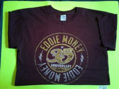 Official Eddie Money 35th Anniversary Tour09 Shirt Worn Once OnStage During show #Gilden