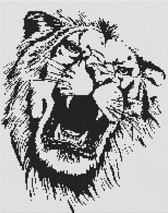 "Monochrome Lion - Cross Stitch Pattern ordered this chart add the words ""aslan, not a tame lion"""