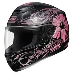 Pink motorcycle helmet.....I want to get it this year.
