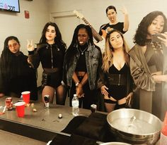 Fifth Harmony with their band mates