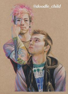 Twenty One Pilots Drawing PRINT by DoodleChildArt on Etsy