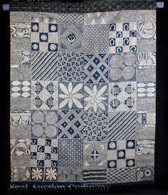 An African Adire Eleko Cotton Textile