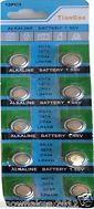 50 Bulk AG13 LR44 L1154 A76 1.5 Volt Alkaline Button Cell Battery