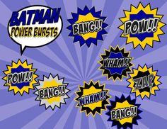 BATMAN Party - BURSTS - Superheroes Party - Boys Birthday Party - Super Hero - Batman Centerpiece - Batman Inspired- INSTANT Download
