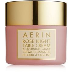 Aerin Rose Night Table Cream & Overnight Mask (680 NOK) ❤ liked on Polyvore featuring beauty products, skincare, face care, face masks, no color, hydrating mask, hydrating facial mask, face mask, moisturizing facial mask and moisturizing face mask