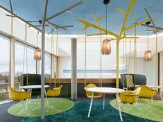 Teppich in unterschiedlicher Farbe zur Abgrenzung  SAP Potsdam Innovation Center