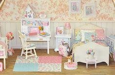 Petites douceurs Lati yellow Lati White et miniatures. Miniatures Barbie, Dollhouse Miniatures, Diy Dollhouse, Dollhouse Furniture, Smallest House, Mini Houses, Bedroom Accessories, Miniature Dolls, Doll Houses