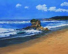 Resultado de imagen de imagenes de marinas al oleo  en forma panoramica