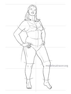 Free download fashion figure template of plus size croqui ...