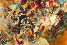Wassily Kandinsky , Composition VII , 1913. Oil on canvas, 200 x 300 cm. The State Tretyakov Gallery , Moscow