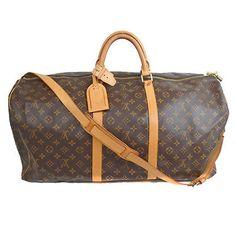 Auth Louis Vuitton Monogram Keepall Bandouliere 60  M41412 ak880